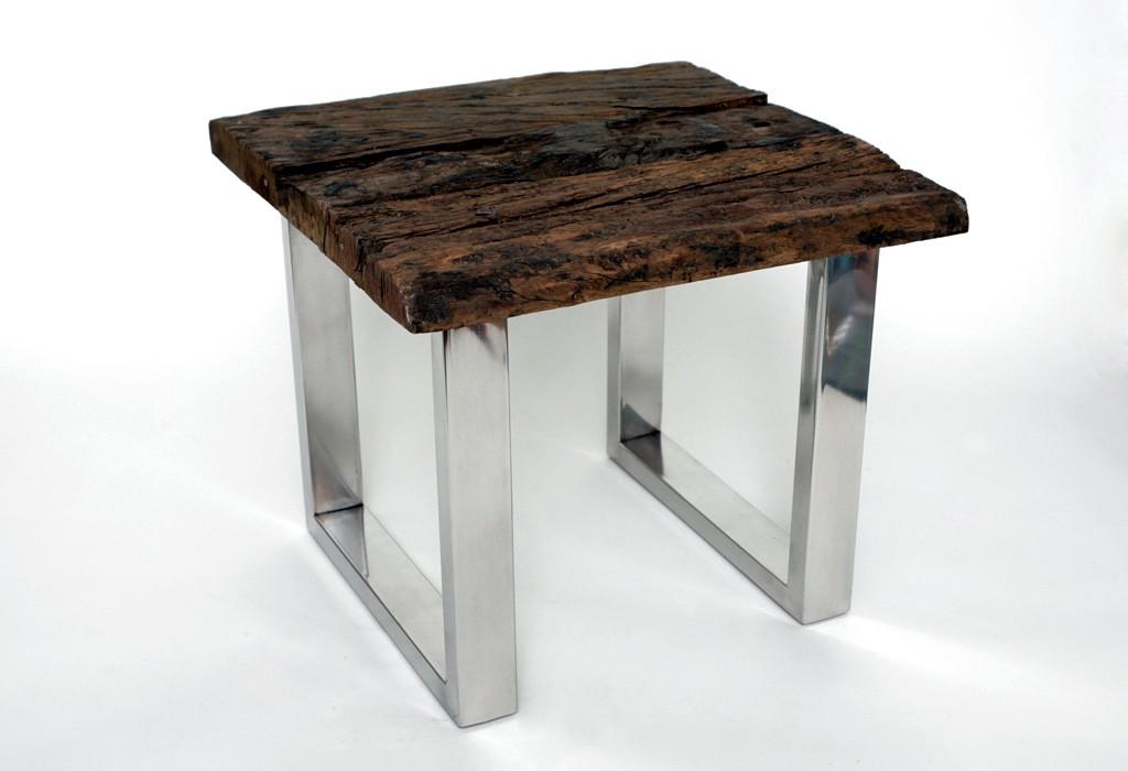 designer beistelltisch couchtisch 2 gr en echtholz holz. Black Bedroom Furniture Sets. Home Design Ideas