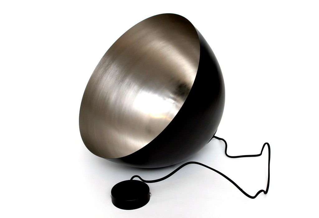 h ngelampe h ngeleuchte pendellampe deckenlampe schwarz silber rund metall lampe ebay. Black Bedroom Furniture Sets. Home Design Ideas