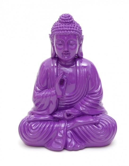 design buddha 6 varianten blau wei schwarz gr n rot lila figur feng shui lotus. Black Bedroom Furniture Sets. Home Design Ideas
