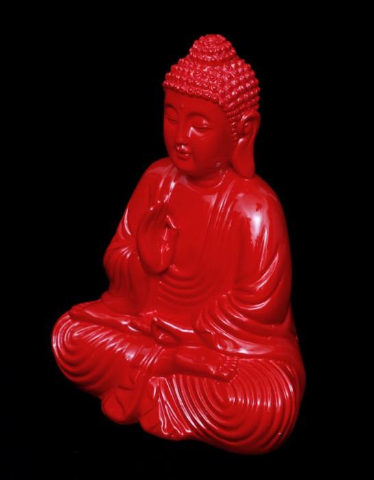 design buddha 6 varianten blau wei schwarz gr n rot lila figur feng shui lotus ebay. Black Bedroom Furniture Sets. Home Design Ideas