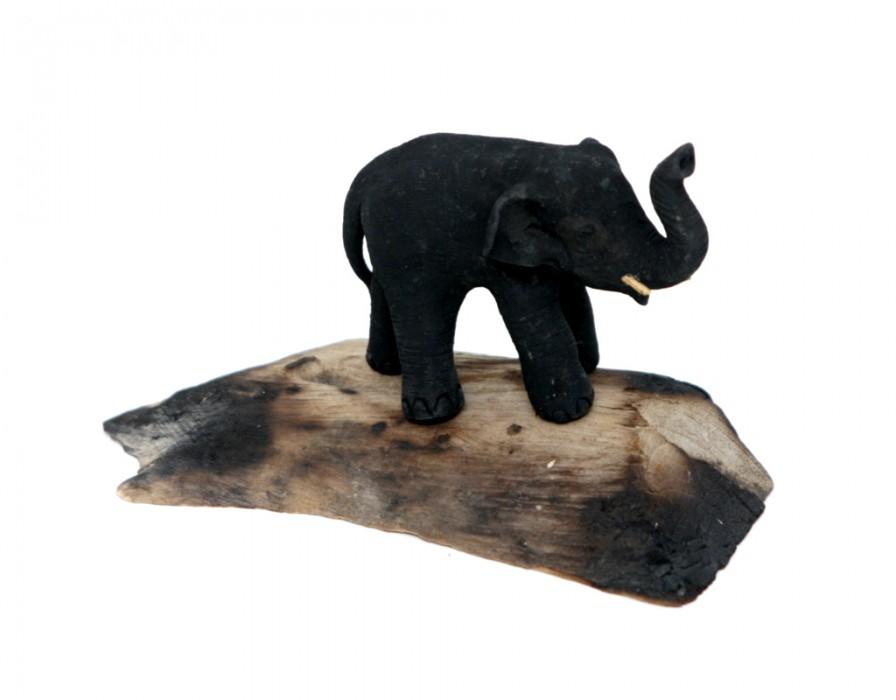 elefant mutter mit kind baby aus holz unikate figur skulptur gl ck deko afrika ebay. Black Bedroom Furniture Sets. Home Design Ideas