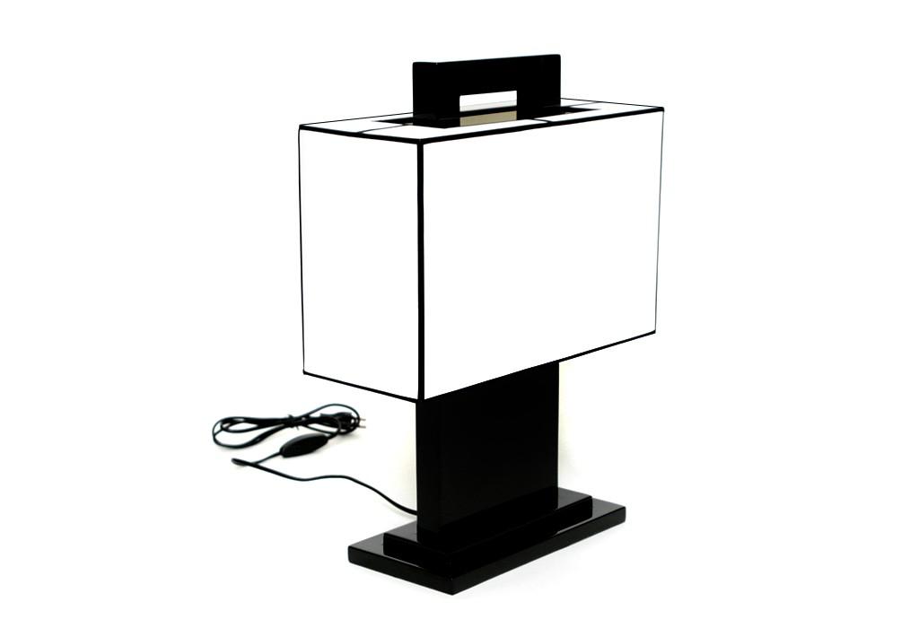 nachttischlampe tischlampe tischleuchte tisch lampe leuchte fensterbank lackiert ebay. Black Bedroom Furniture Sets. Home Design Ideas