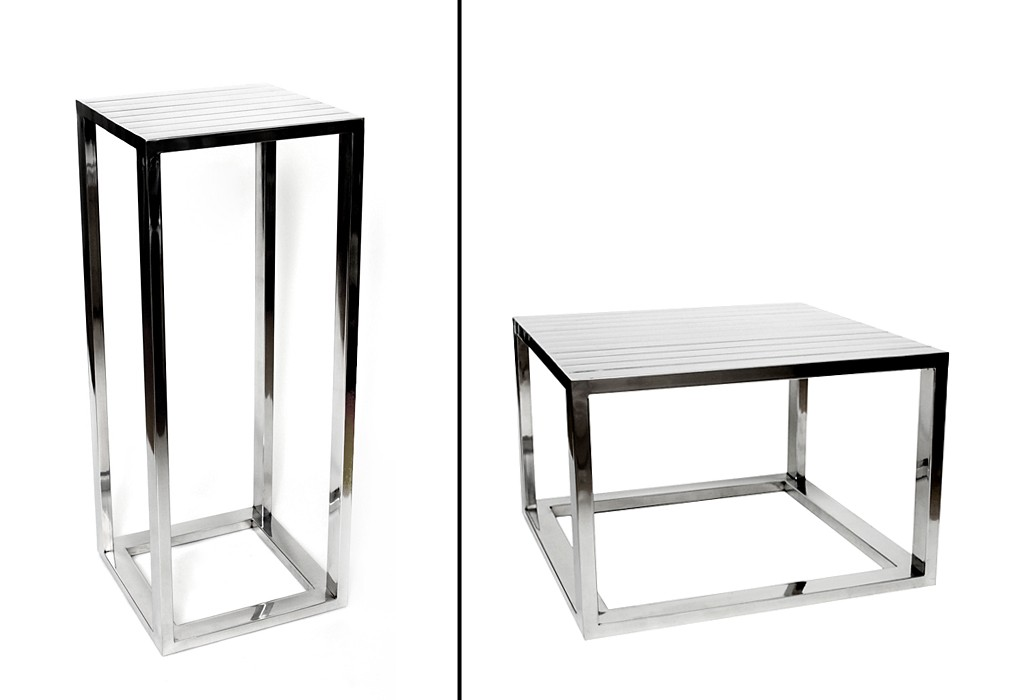 stehtisch couchtisch 2 varianten beistelltisch 100 cm aluminium silber. Black Bedroom Furniture Sets. Home Design Ideas