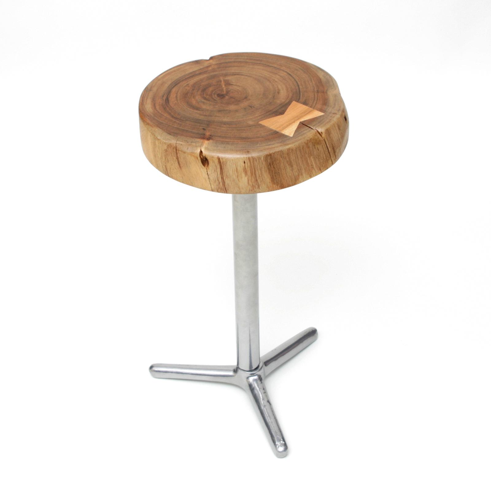 hocker sitz beistelltisch stuhl holz metall stahl. Black Bedroom Furniture Sets. Home Design Ideas