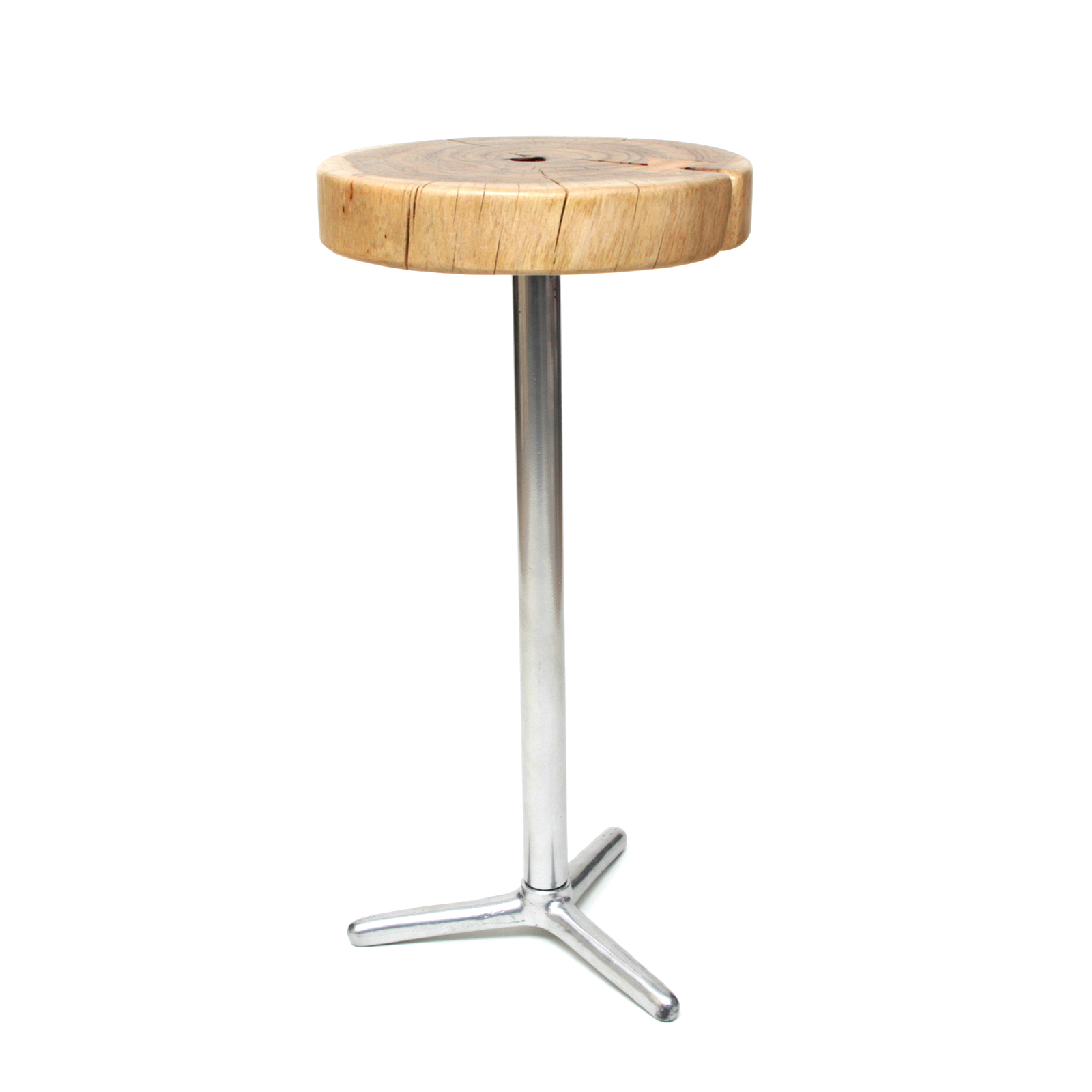 hocker sitz beistelltisch stuhl holz metall stahl akazienholz massiv nachttisch ebay. Black Bedroom Furniture Sets. Home Design Ideas