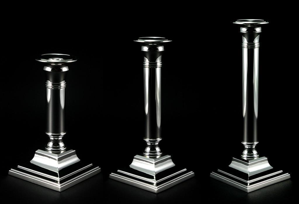 candlestick holder silver plated candle holder square new quality top ebay. Black Bedroom Furniture Sets. Home Design Ideas
