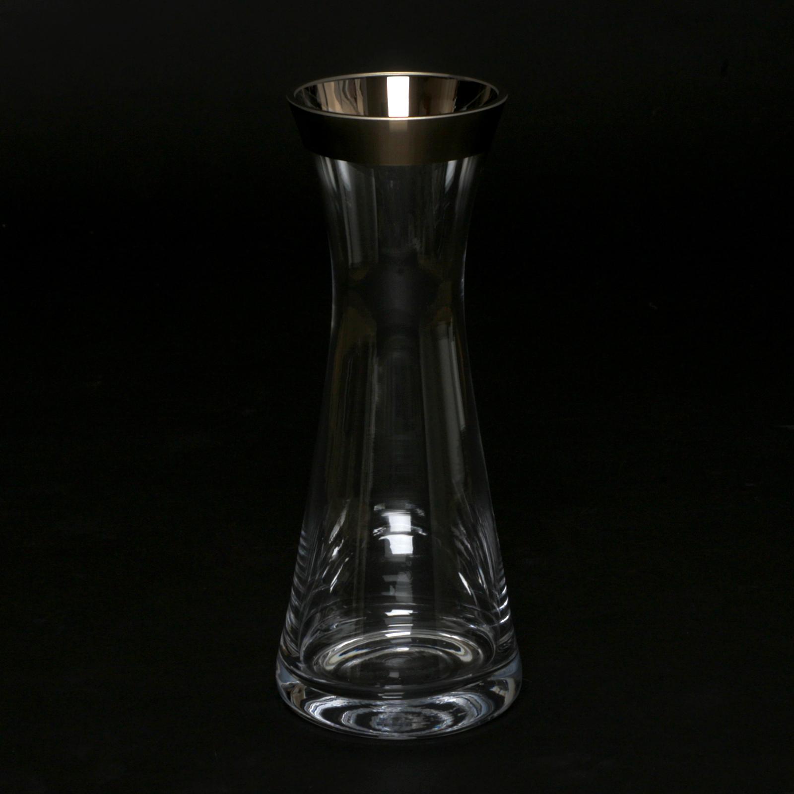 karaffe glas mit platinrand glaskaraffe wasser wein. Black Bedroom Furniture Sets. Home Design Ideas