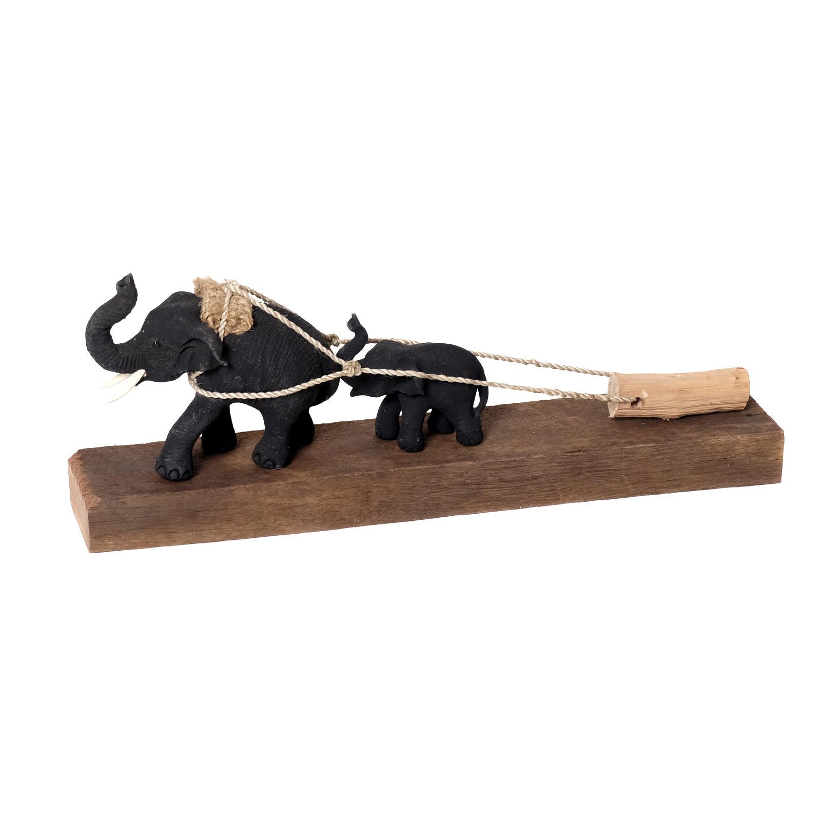 figur arbeitselefant elefant aus holz deko gro skulptur statue asien afrika neu ebay. Black Bedroom Furniture Sets. Home Design Ideas