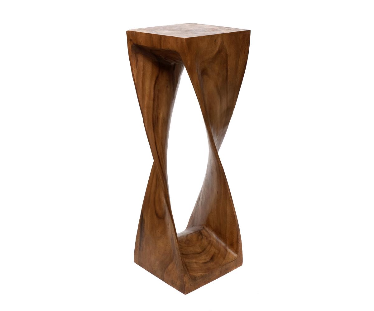 Hocker sitz stuhl beistelltisch couchtisch tisch holz for Telefon beistelltisch