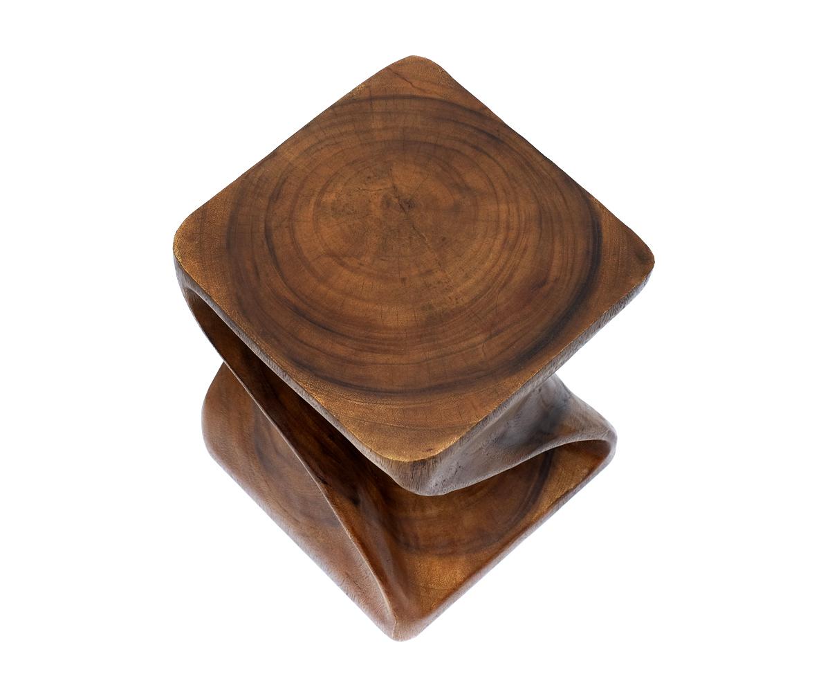 hocker sitz stuhl beistelltisch couchtisch tisch holz braun nachttisch twist neu ebay. Black Bedroom Furniture Sets. Home Design Ideas