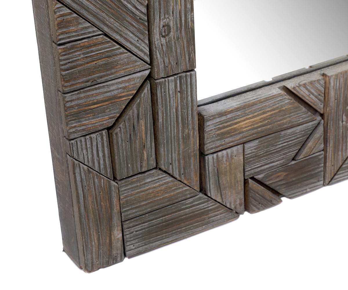 design wandspiegel spiegel aus holz 90x70 cm modern braun barock antik gro edel ebay. Black Bedroom Furniture Sets. Home Design Ideas