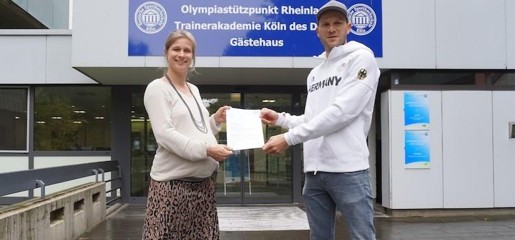 Max Hoff erhält IOC-Stipendium