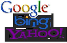 Logos gängiger Suchmaschinen
