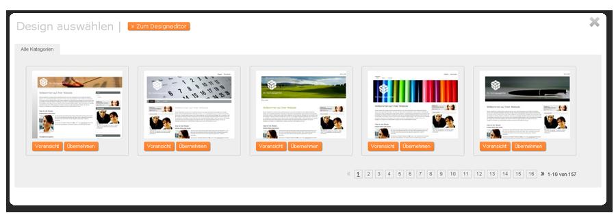 Homepage-Vorlagen