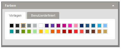 Designeditor - Farben